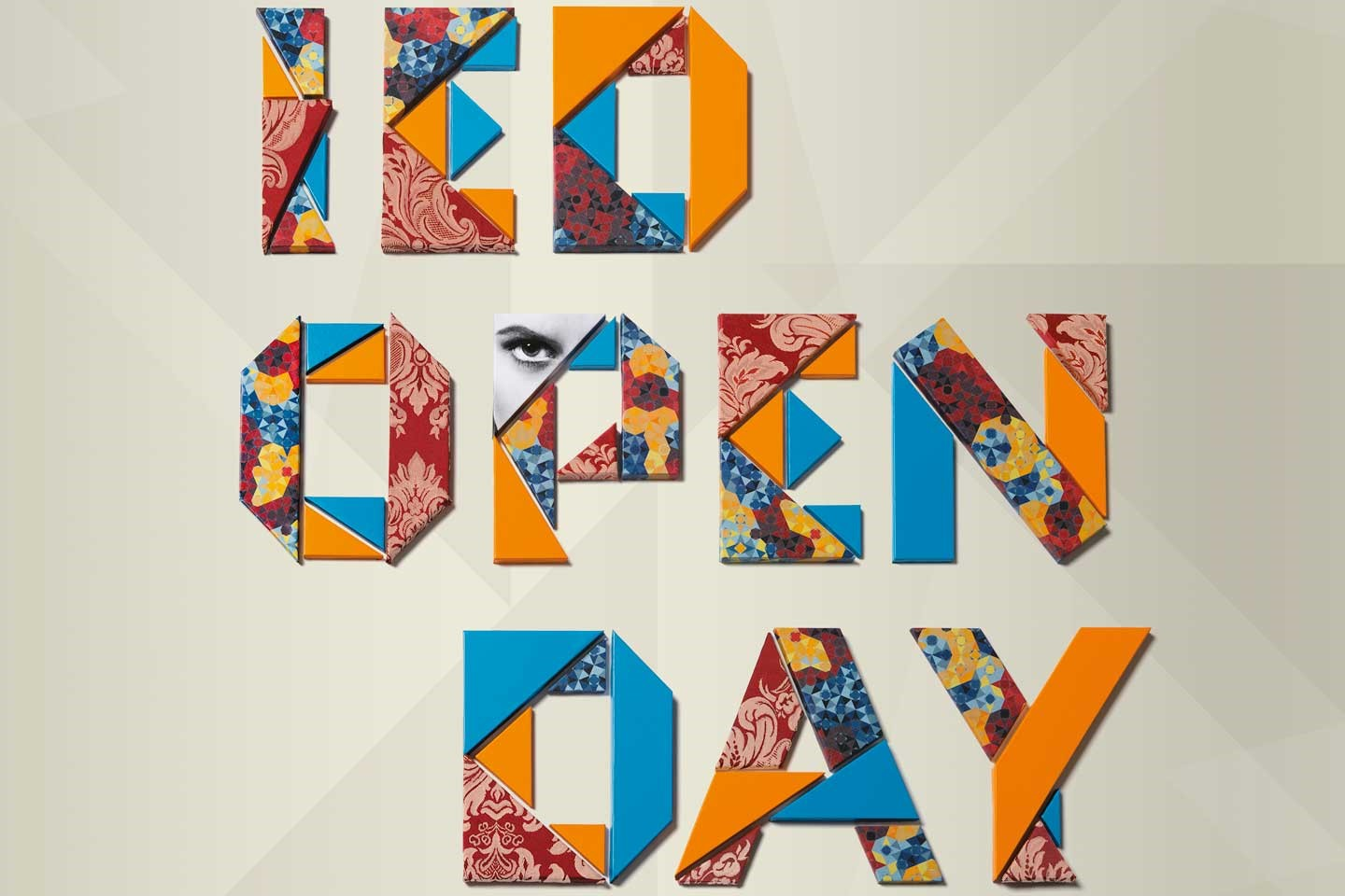 Case study: IED Open Day, building a font by hand... literally
