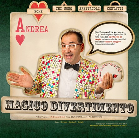 Mago Andrea - Web design / web marketing / landing page / strategia social media / web analytics.