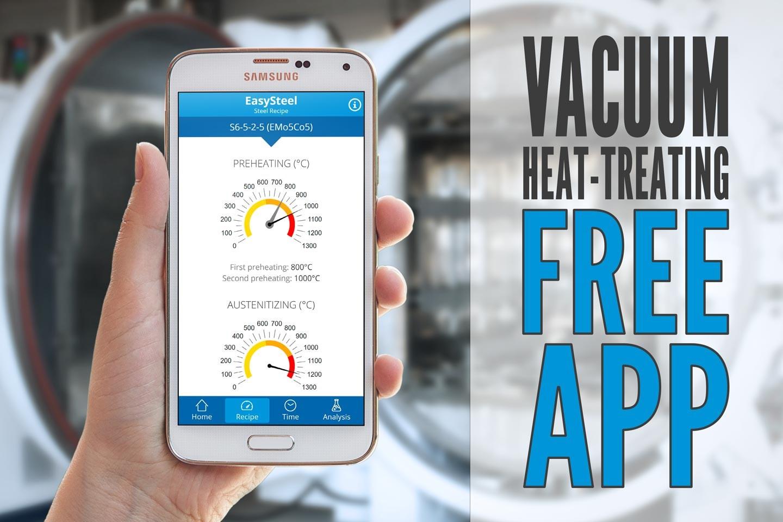 [Free App] EasySteel: the vacuum heat treatments calculator
